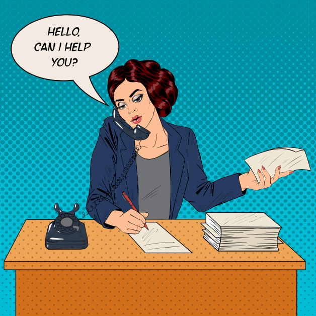 Working Woman Speaking on the Phone at Office