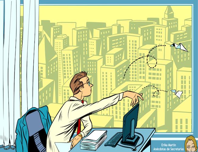 directivo trabajando en su despacho