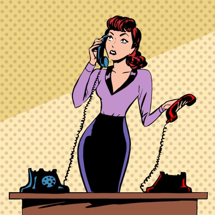 secretaria responde telefono