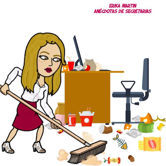 las secretarias no son señoras de la limpieza