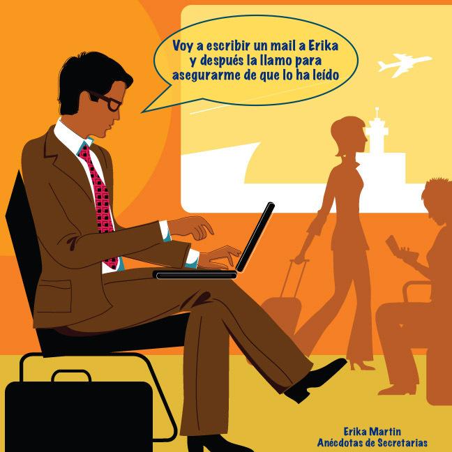 hombre negocios en aeropuerto