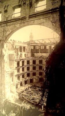 Semperoper ruinas tras segunda guerra mundial