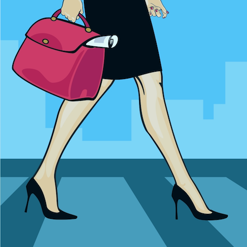 businesswoman city