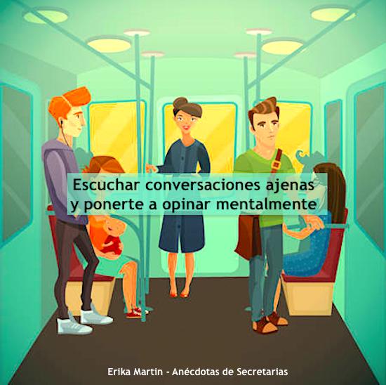 conversaciones ajenas en metro