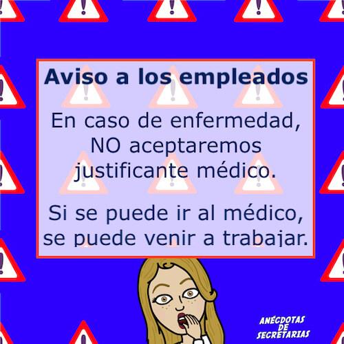 aviso justificante medico
