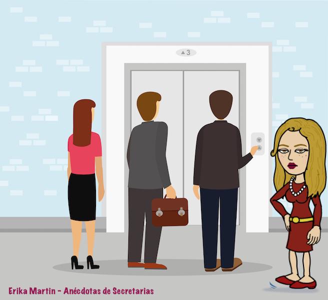 esperar ascensor oficina