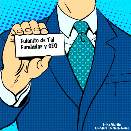 tarjeta visita fundador empresa y ceo