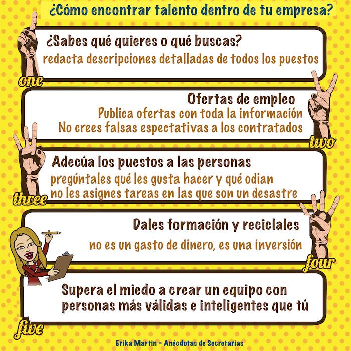 infografia talento dentro empresa