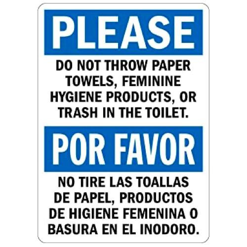 el inodoro no es el cubo de la basura
