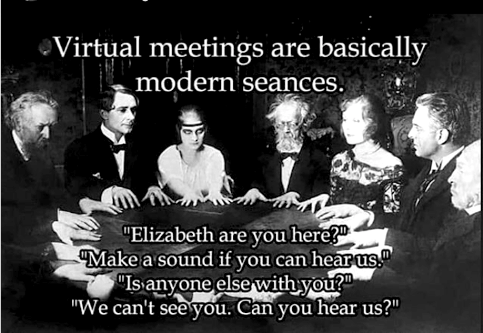 virtual meetings meme