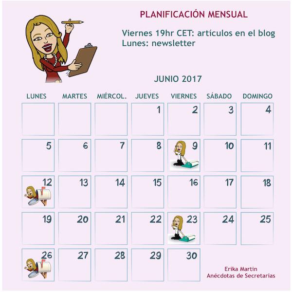 calendario editorial anecdotas secretarias