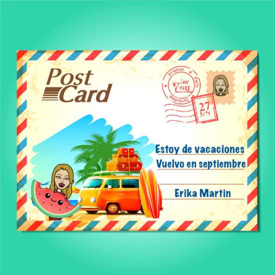 postal cerrado por vacaciones
