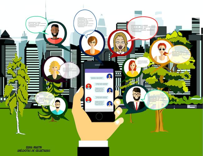 redes sociales en smartphone