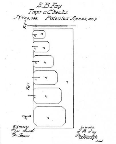 Patente clip Samuel F Bay