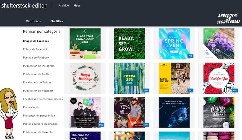 Plantillas diseño editor imagenes Shutterstock
