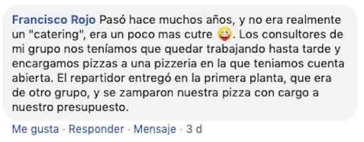 anecdota pidiendo pizza al trabajo