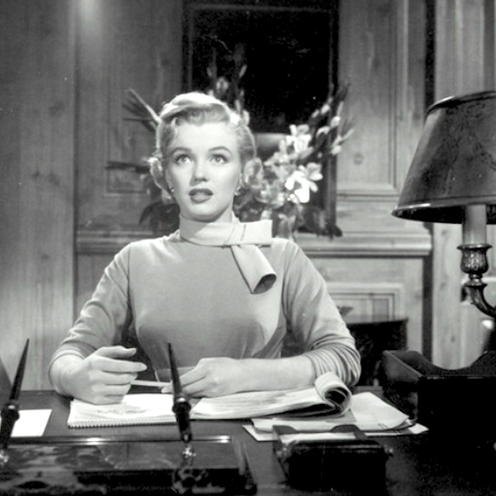Marilyn Monroe secretaria en Monkey Business
