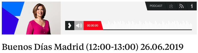 Buenos dias Madrid Madrecdotas 26.06.2019 12.00