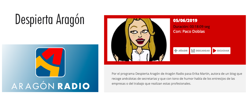 Anecdotas de Secretarias Entrevista en Despierta Aragon