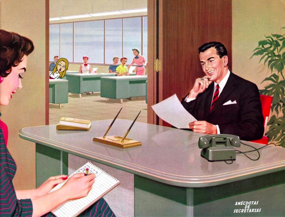 dictar correspondencia a secretaria