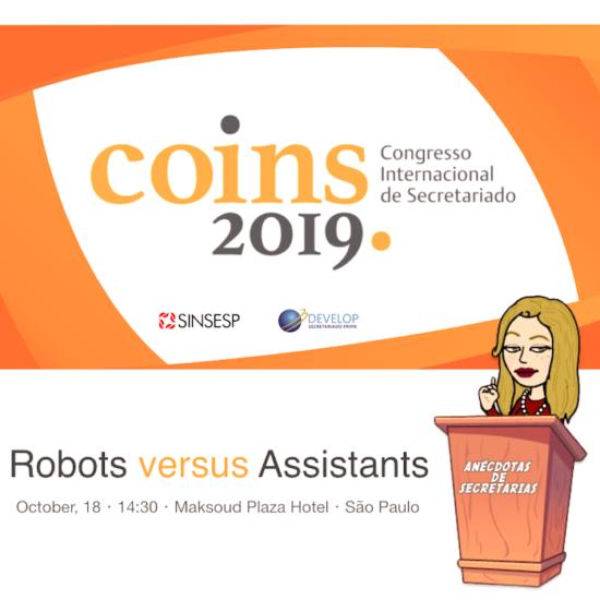 robots vs assistants ponencia en COINS 2019 congreso secretariado brasil