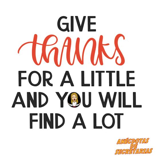 dar las gracias cuesta poco y recibes mucho a cambio