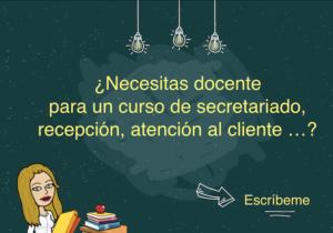 docente para cursos de secretariado en madrid