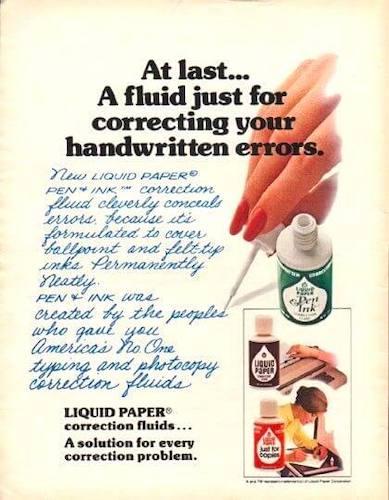 Anuncio Liquid Paper