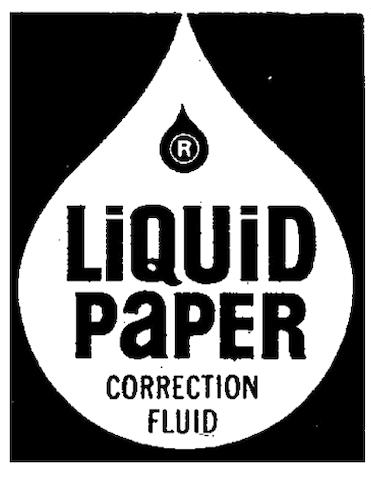 Liquid Paper Correction Fluid