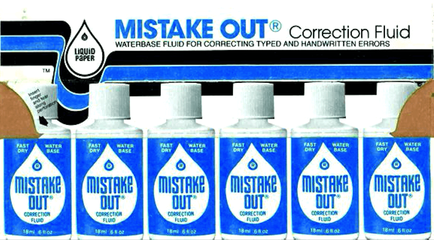 Mistake Out Correction Fluid