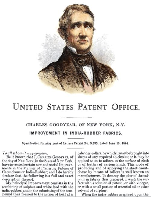charles goodyear patente vulcanizacion del caucho
