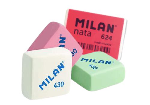 gomas de borrar de MILAN